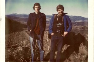 "Russell and Ewert in Algeria in 1971. Photo via ""Hitchhiking to the Edge of Sanity"" website."
