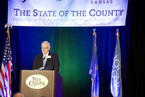 County Chair Ed Eilert delivered his State of the County address to a full house Tuesday.