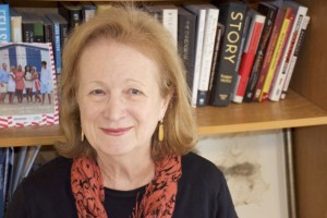 Nancy Pickard in her Prairie Village apartment.