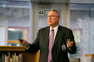 Rick Atha, Shawnee Mission's assistant superintendent for instructional support, in March.