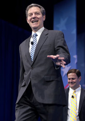 Governor Sam Brownback  at the 2017 Conservative Political Action Conference. Photo by Gage Skidmore used under a Creative Commons license.