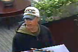 Security camera footage of Darrell Hunter as he robbed the UMB location in December 2014.