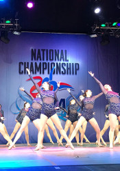 The Lancer Dancers performing their jazz routine at NDA Nationals last month.