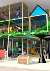 A rendering of the new indoor play structure planned for the Matt Ross Community Center in downtown Overland Park.