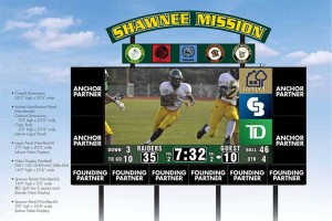 A rendering of the new scoreboards planned at SM South and SM North.