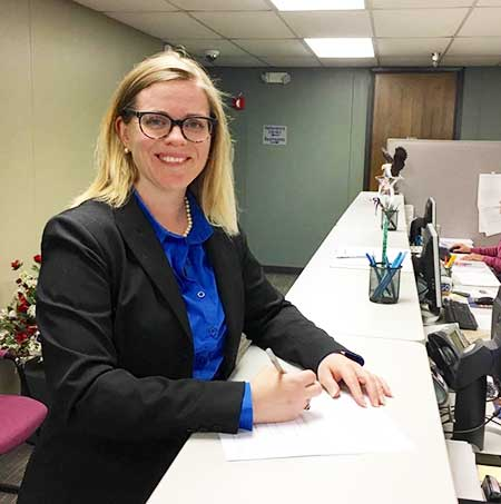 Heather Ousley filed for the Shawnee Mission board of education this morning. Submitted photo.