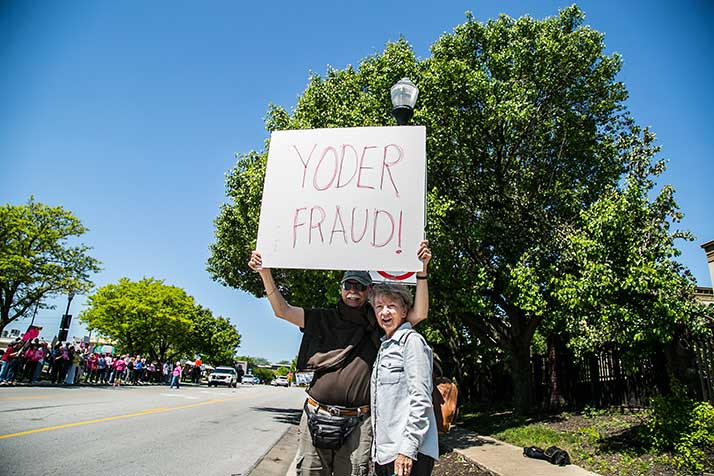 Protestors Demonstrated Outside Of Rep. Kevin Yoderu0027s Downtown Overland  Park Office Following His AHCA Vote