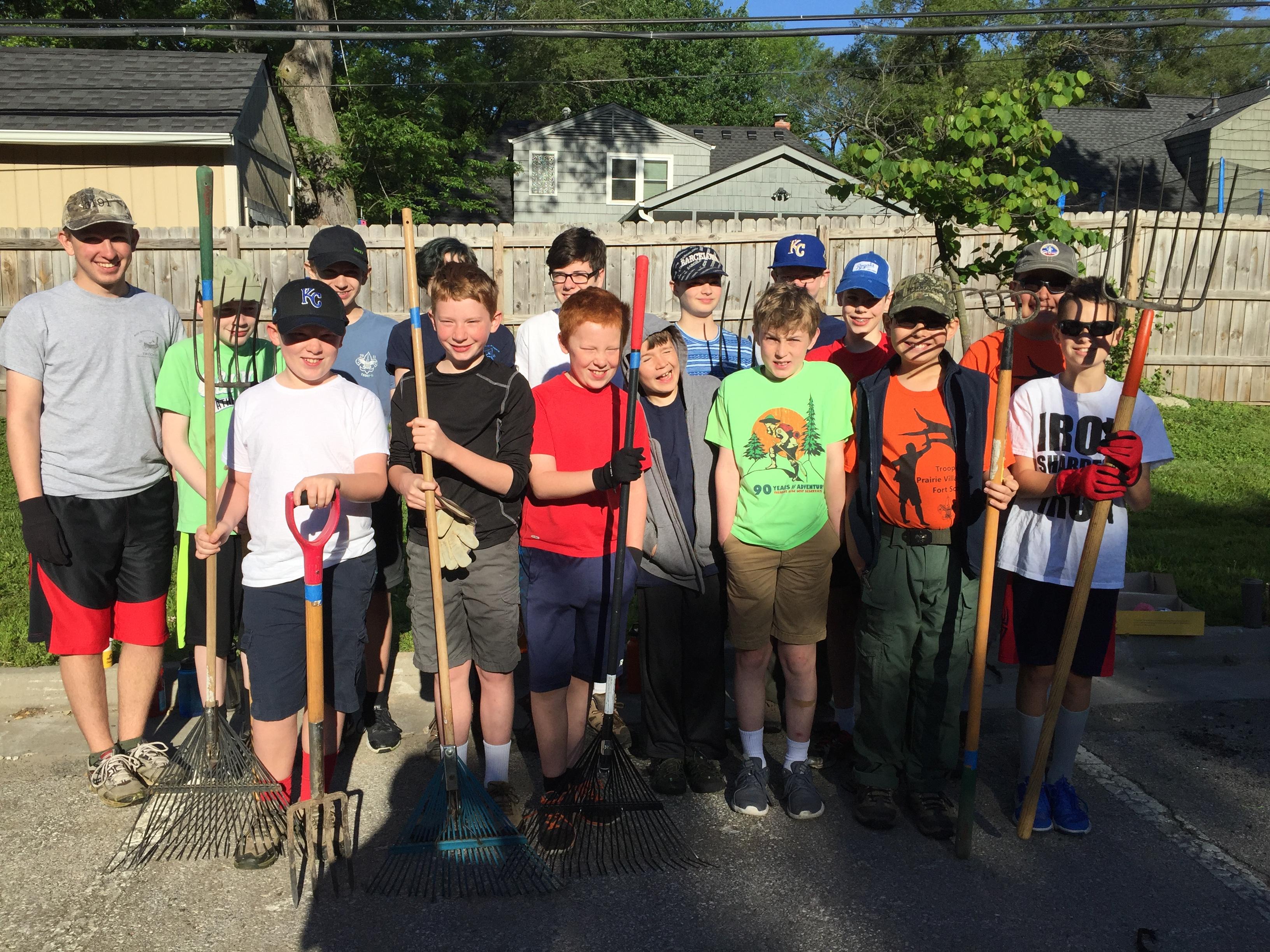 Kansas johnson county prairie village - Scouts From Village Presbyterian And St Ann Worked At Taliaferro Park In Prairie Village Over