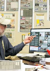 Henry Fortunato in his office at the InterUrban Art House in downtown Overland Park.