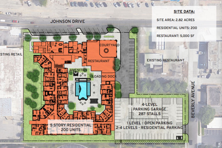 The preliminary site plan approved by the planning commission Monday. Click to enlarge.
