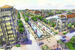 One of Curtin's original concept drawings for the Brookridge mixed-use development.