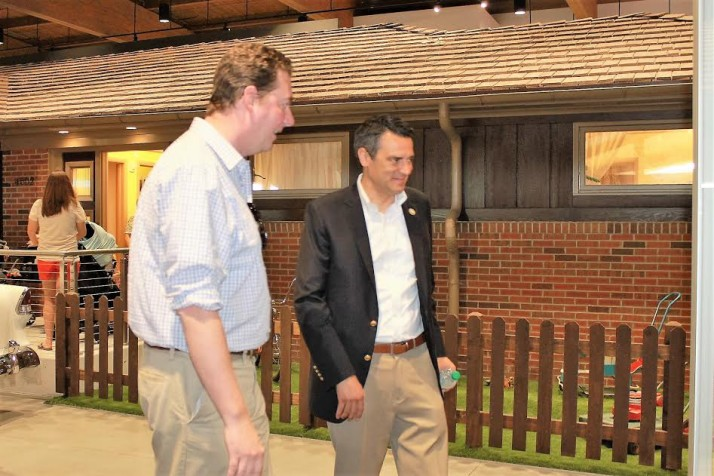 County Commissioner Jason Osterhaus and Rep. Kevin Yoder were among those on hand to check out the new Johnson County Museum.