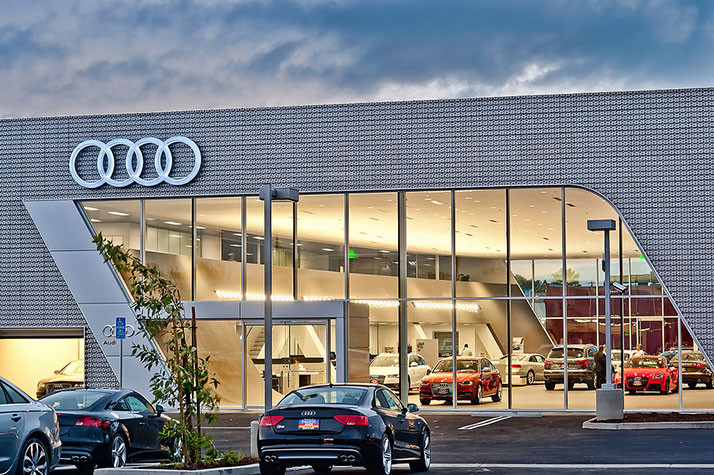 Three New Car Dealership Projects Including Audi Lot In The - Audi car showroom