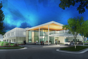 A rendering of the planned B.E. Smith Child Development Center on the Shawnee Mission Medical Center campus in Merriam.