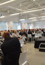 Community leaders gathered at the new Johnson County Arts & Heritage Center for this years Human Services Summit. Photo via UCS on Facebook.