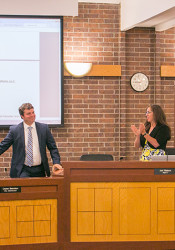 The city council gave Bennion a standing ovation at his final meeting at Prairie Village City Administrator Monday.