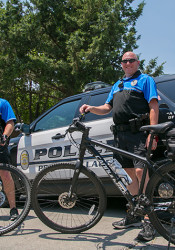 Two Prairie Village officers recently completed a bicycle policing training program in Emporia.