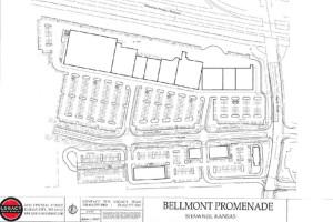 A site plan for the Bellmont Promenade development.