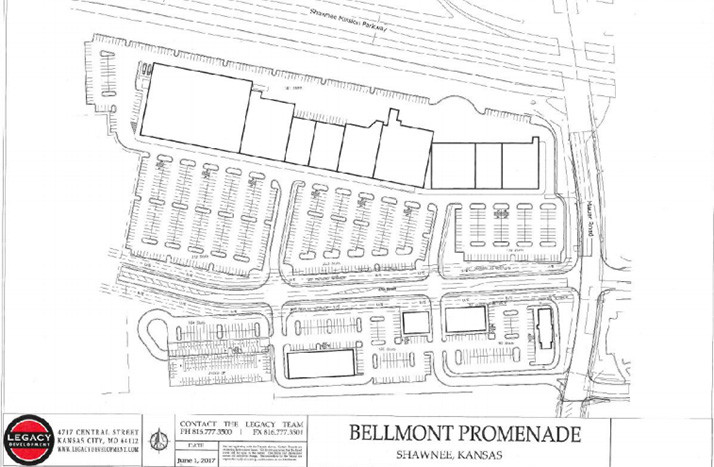 A site plan for the Bellmont Promenade development.