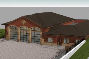 A rendering of the three-bay fire station Consolidated Fire District No. 2 is proposing.