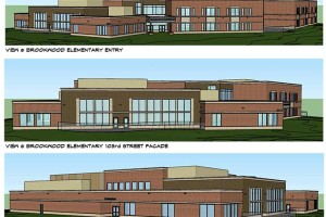 Renderings of the new Brookwood Elementary building approved by the Leawood City Council this week.