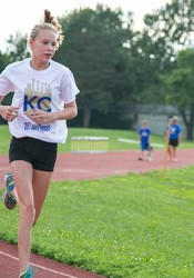 Rising Hocker Grove 8th grader Chloee Belgum is heading to Detroit Sunday for the Junior Olympics.