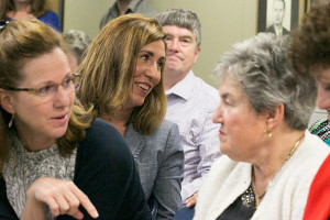Mandi Hunter was all smiles after the final vote tally kept her in second place, advancing her to the November ballot.