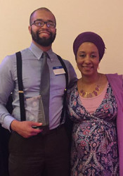 David Muhammad received the Crescent Peace Society award Sunday. Photo via Facebook.