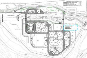 A site plan for the expansion project.