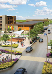 The Prairiefire development in southern Overland Park was forced to scale back after performing well under projections. The project benefited from STAR bonds.
