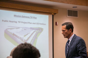Cameron Group developer Tom Valenti was back in town Wednesday to pitch the Mission council on his latest public finance incentives requests.