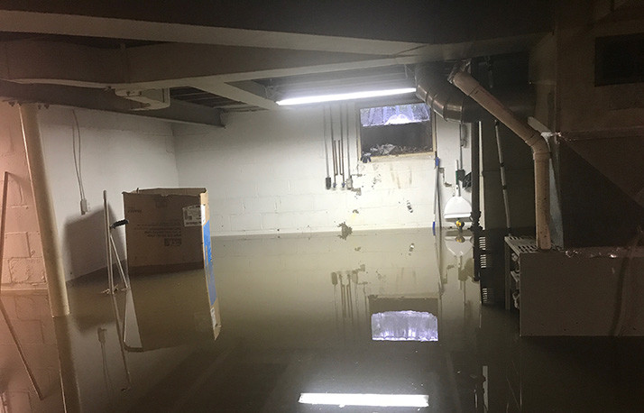 The Austin's basement saw another two and a half feet of flooding overnight Tuesday.