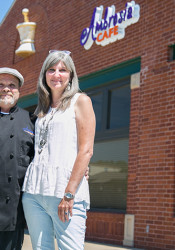 Richard and Coleen Babcock will open their new Ambrosia Cafe in downtown Overland Park in September.