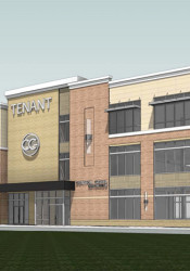 A rendering of the proposed building approved for industrial revenue bond by the Lenexa City Council Tuesday.