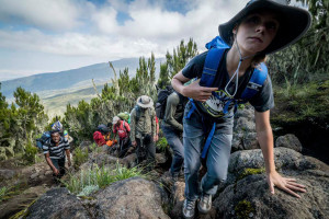 "A scene from ""Climbing Kilimanjaro: A 12 Year Old's Passion Project,"" among the selections from this year's Wild and Scenic Film Festival on Tour."
