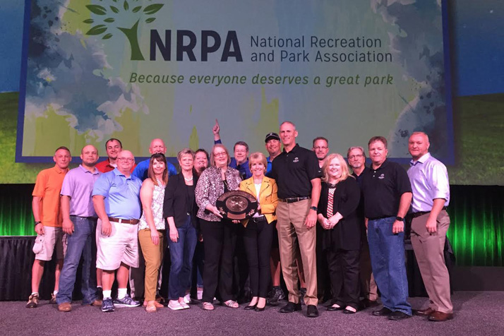 JCPRD staff posing with their award in New Orleans. Submitted photo.