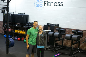 Jon and Britni Rowley inside 2020 Fitness in Prairie Village.