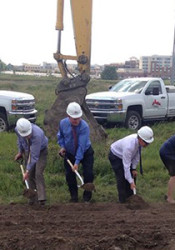 Oddo Development held a groundbreaking ceremony  on the project in August. Photo via Oddo Development on Facebook.