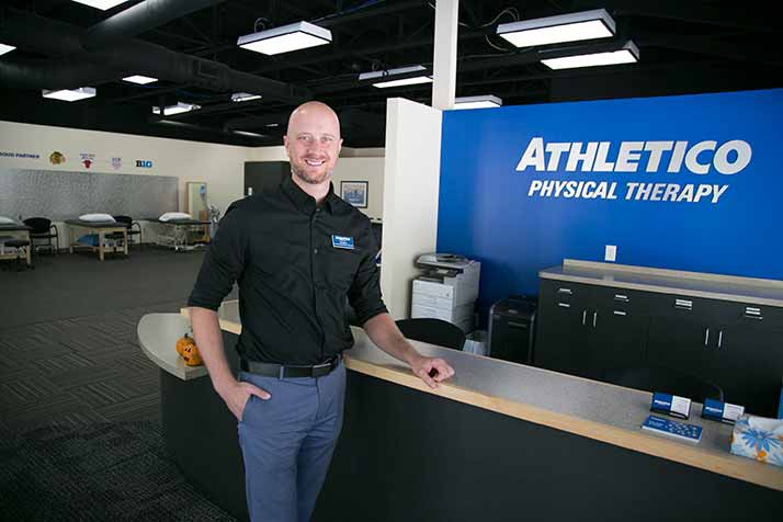 Jeff Stone is the physical therapist at the new Athletico location at the Village Shops.