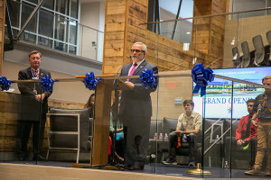 Kenny Southwick gave brief opening remarks at the Grand Opening ceremony for the Center for Academic Achievement Wednesday.