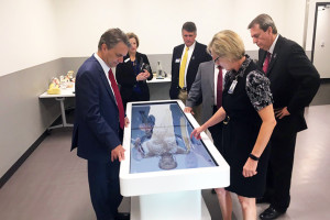 Lt. Gov. Jeff Colyer, who will likely be the sitting incumbent when the primary roles around next August, visited the Shawnee Mission School District's Center for Academic Achievement during the Grand Opening event earlier this week. Photo via Colyer on Twitter.