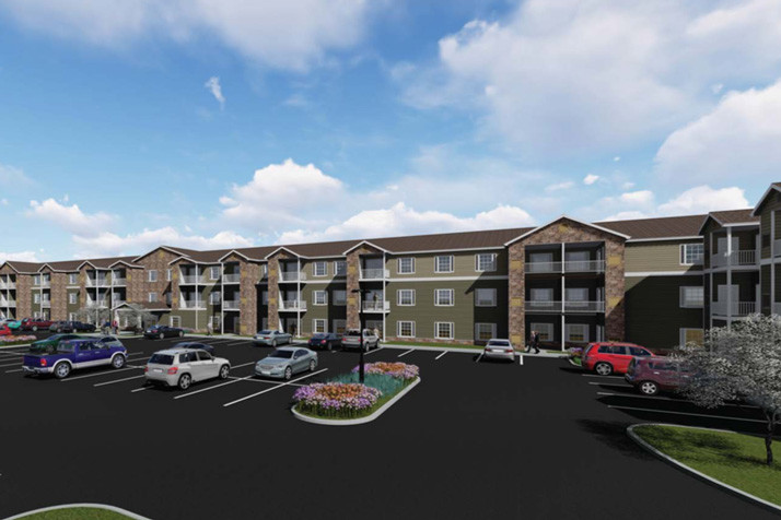 A rendering of the proposed Calamar Willow Ridge senior living facility.