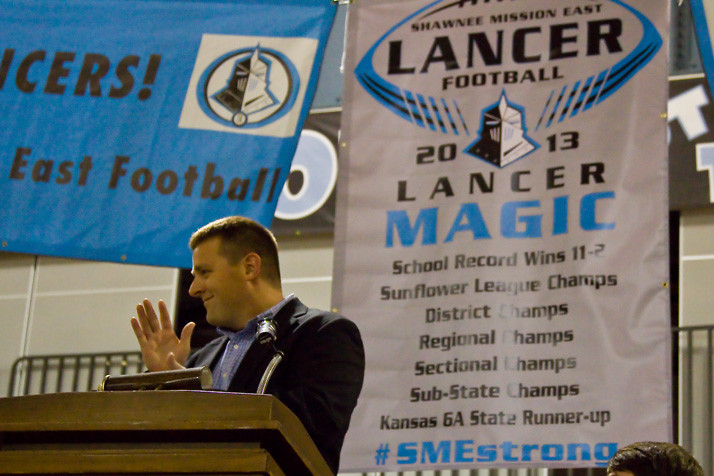 Delaney celebrated the Lancers' record-setting 2013 season, which saw the team make its first ever title game appearance, at the team banquet.