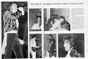 A spread from the SM South yearbook documenting The Who's 1967 performance.