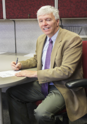Jim Eschrich signed papers to run for the Republican nomination for the District 17 House seat earlier this week. Submitted photo.
