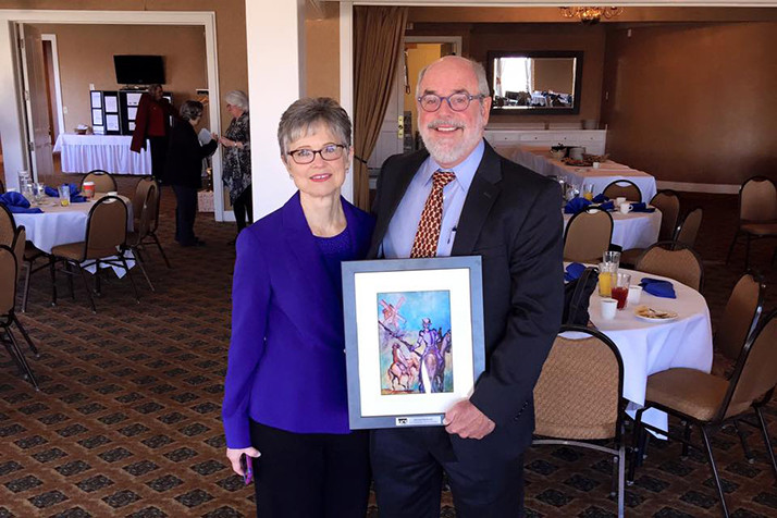 Hannes Zacharias received United Community Services of Johnson County's 2015 Distinguished Public Service award. Photo via Facebook.