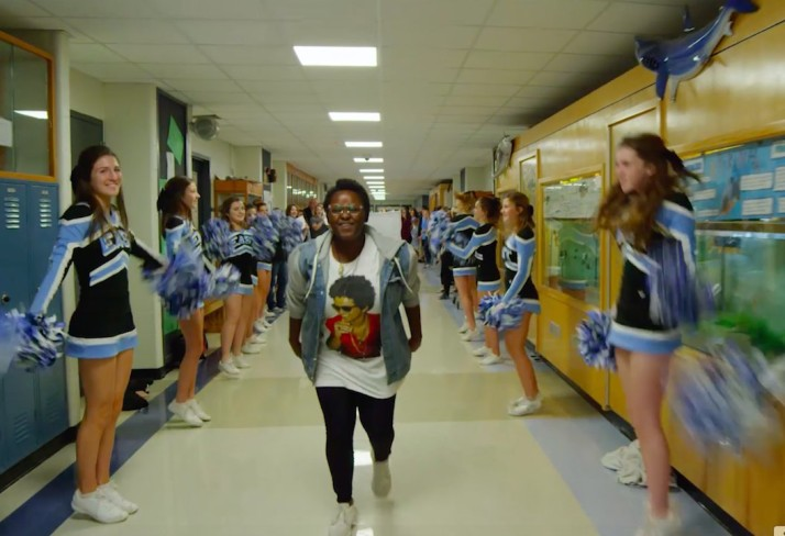 "Aggie Williams sings along to ""Thriller"" in the new SM East lip dub video"