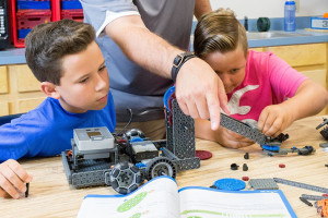 Shawnee Mission classrooms will be getting Vex construction and robotics kits with the help of the foundation. Photo via Vex on Facebook.