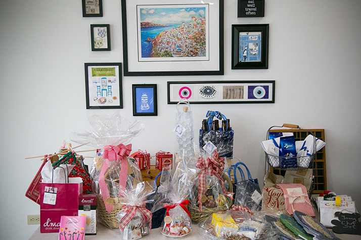 The store offers gift baskets featuring a selection of specialty items from France, Spain, Italy and Greece.