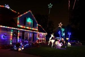 Carol Tucker's Prairie Village home is among the sights of the season. Photo courtesy Carol Tucker.